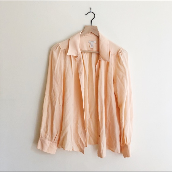 J Crew Silk Button-up Blouse